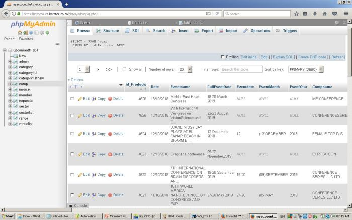 A typical MySQL Database
